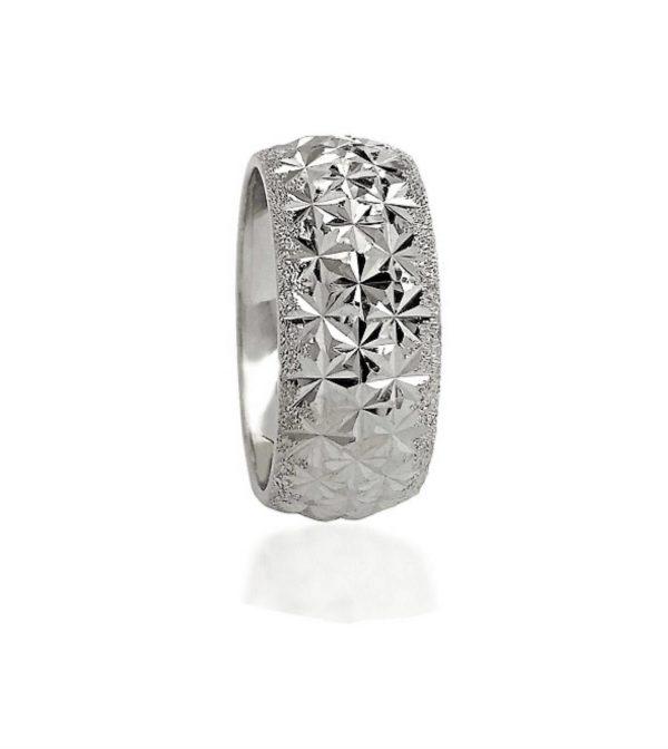 wedding band ring №502 white