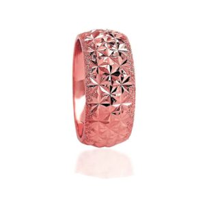 wedding band ring №502 rose