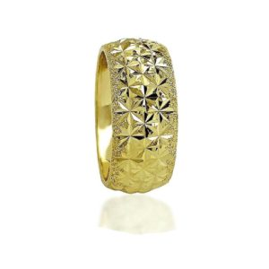 wedding band ring №502 yellow