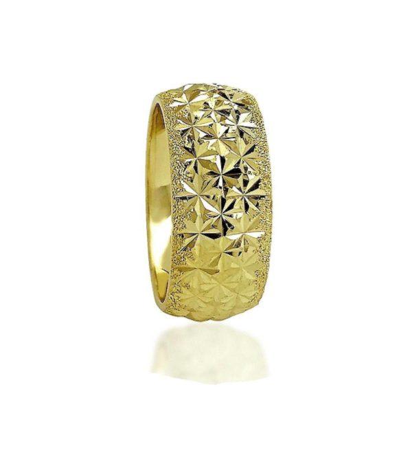 wedding band ring №502 yellow