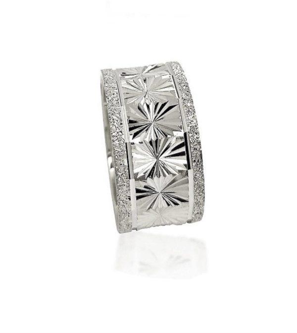 wedding band ring №506 white