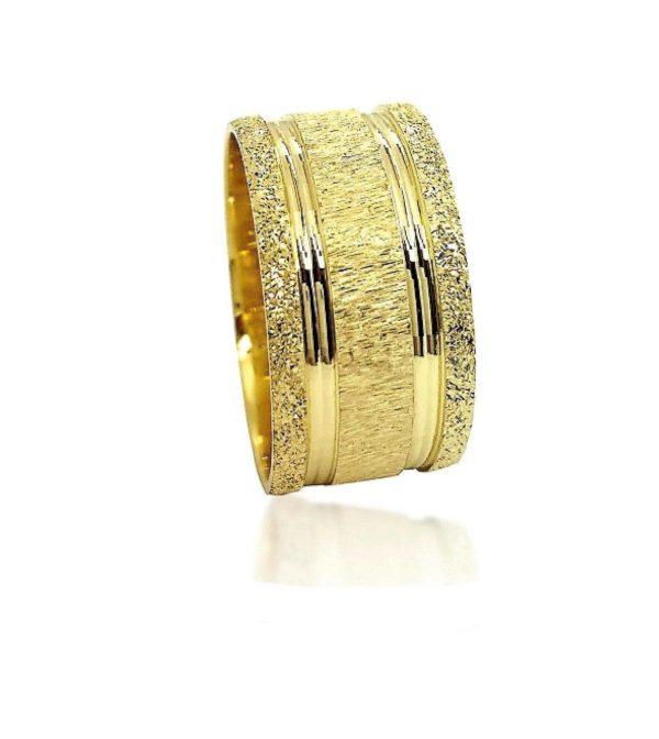 wedding band ring №510 yellow