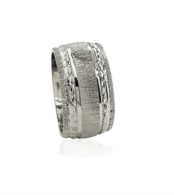 wedding band ring №514 white