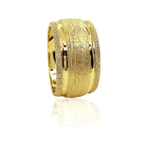 wedding band ring №518 yellow