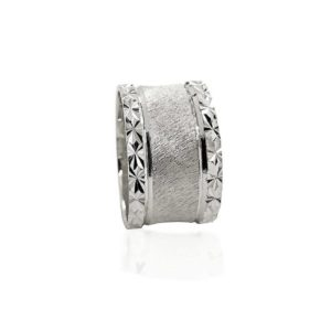 wedding band ring №520 white