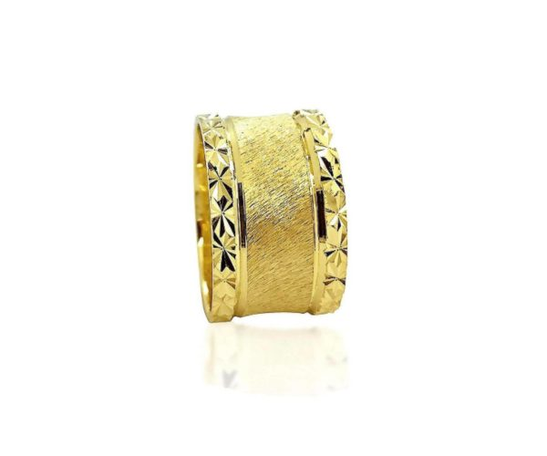 wedding band ring №520 yellow