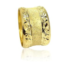 wedding band ring №522 yellow