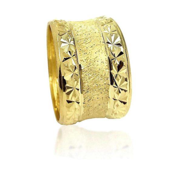 wedding band ring №522 yellow
