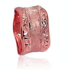 wedding band ring №523 rose
