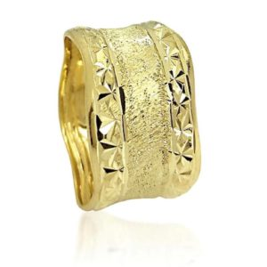 wedding band ring №523 yellow