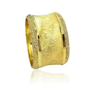 wedding band ring №524 yellow