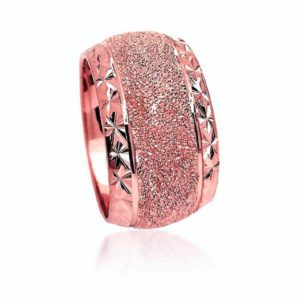 wedding band ring №600 rose