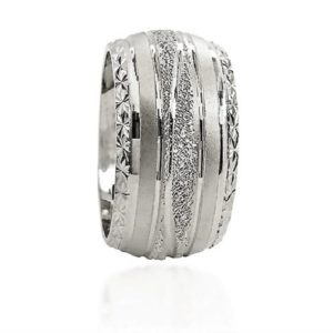 wedding band ring №602 white