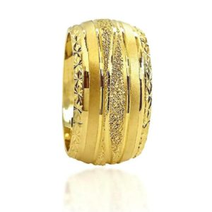 wedding band ring №602 yellow