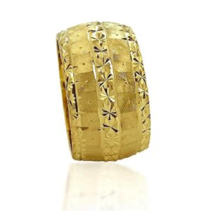 wedding band ring №603 yellow