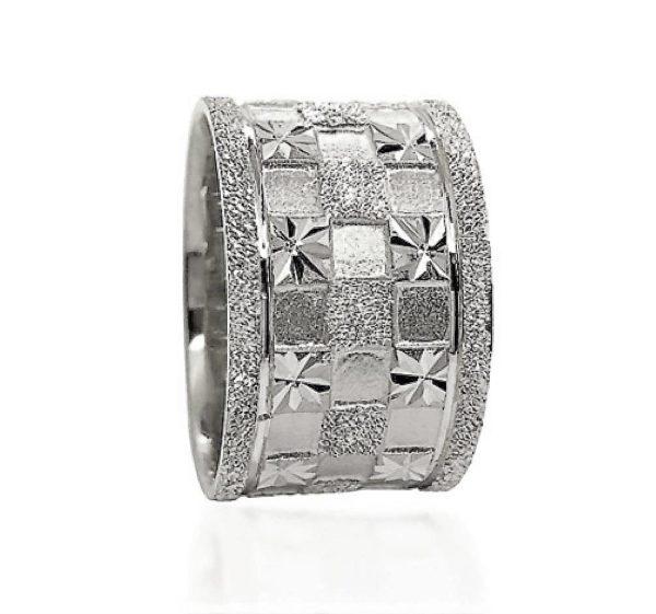 wedding band ring №606 white