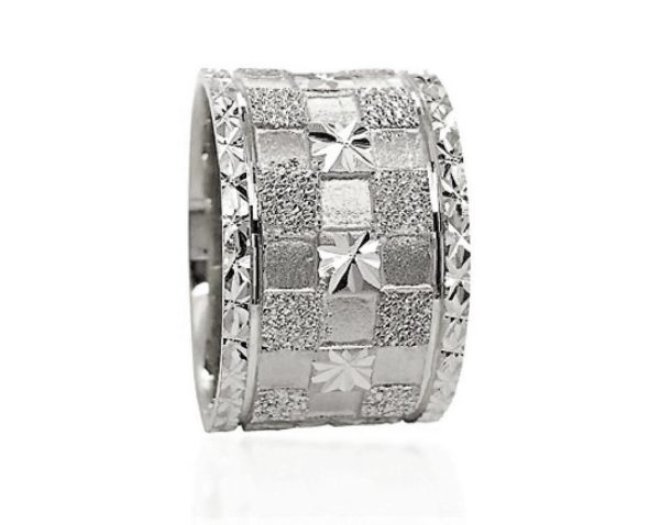 wedding band ring №608 white