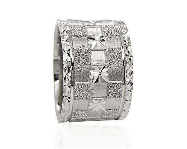 wedding band ring №607 white