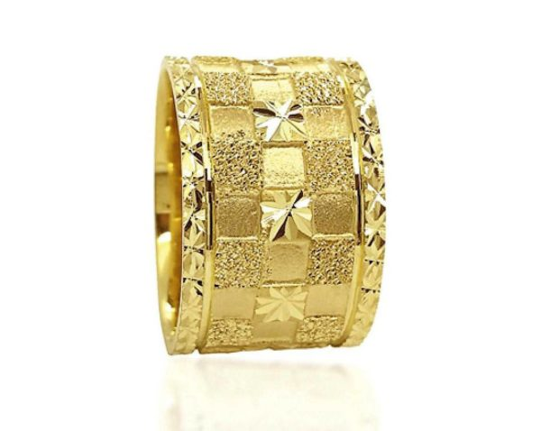 wedding band ring №608 yellow