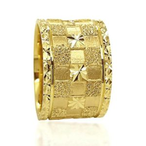 wedding band ring №607 yellow