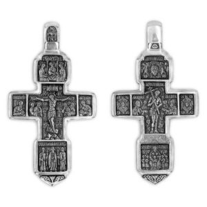 Cross Crucifix Sterling silver Orthodox Holly Trinity