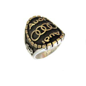 Ring man car logo A gold plated