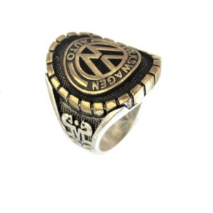 Ring man car logo V gold plated