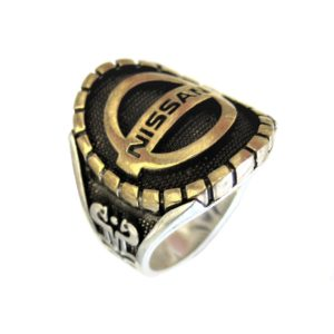 Ring man car logo N gold plated