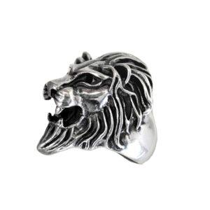 Ring men Large lion head