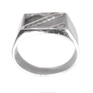 Signet ring men stones