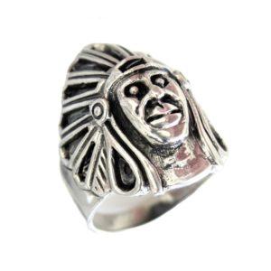 ring men Large Indian head 1439