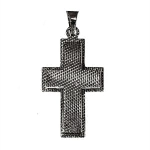 cross wide relief convex pendant