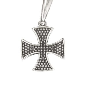 German cross pendant with grain