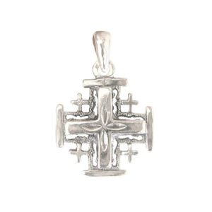 cross Jerusalem rose big pendant