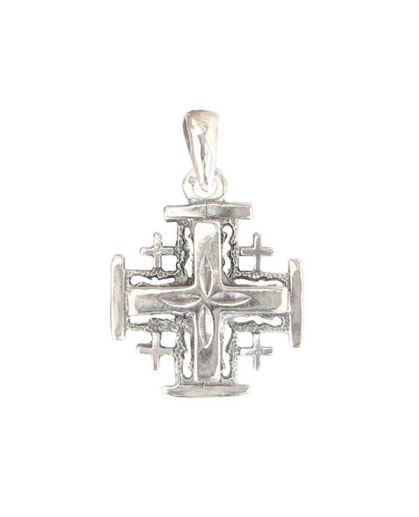 cross Jerusalem rose big pendant