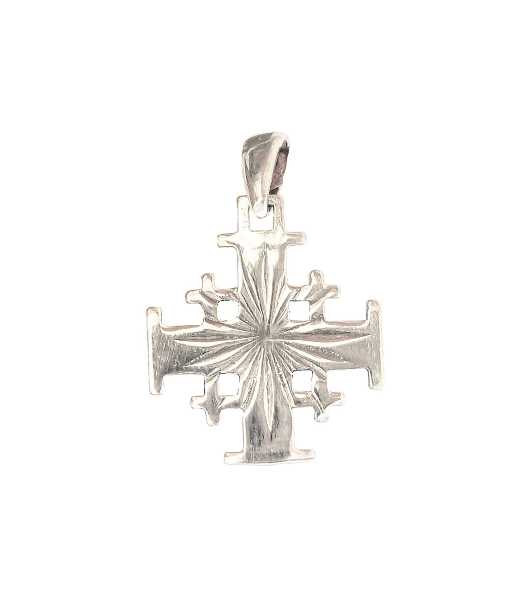 matte finish dp jerusalem sterling crusaders amazon cross pendant jewelry silver com