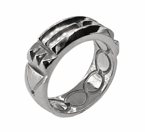 Atlantis ring White Rodium Plating