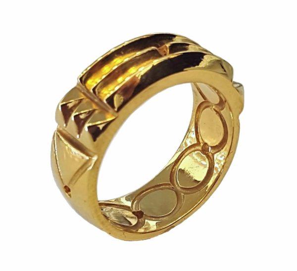 Atlantis ring Total 24k gold Plating