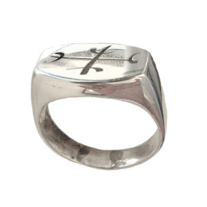 Calm Anger rune ring Signet men