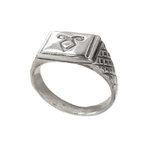 Enkeli rune ring Signet men 1407