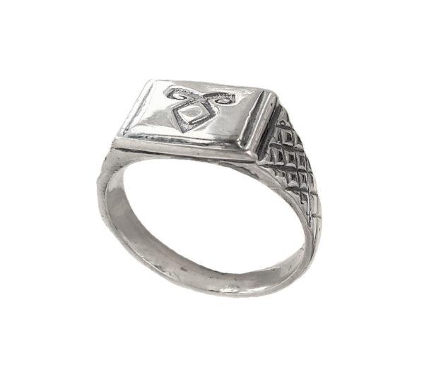 Enkeli rune ring Signet men 1407