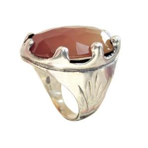 ring men big Cornelian stone