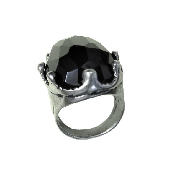 Signet ring men big Onix stone 1416