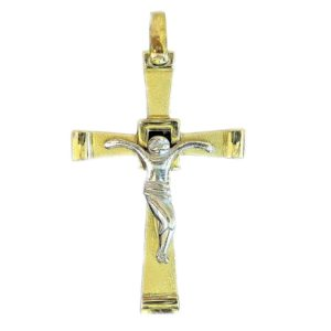stylized canted cross orthodox pendant