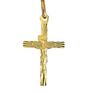 Gold cross Diamond Face a216c