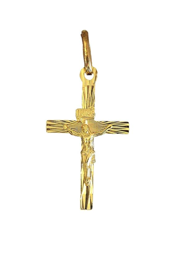 Gold cross Diamond Face a216c