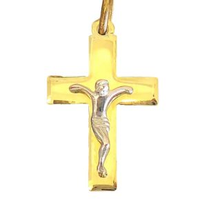 Cross gold Catholic a217c