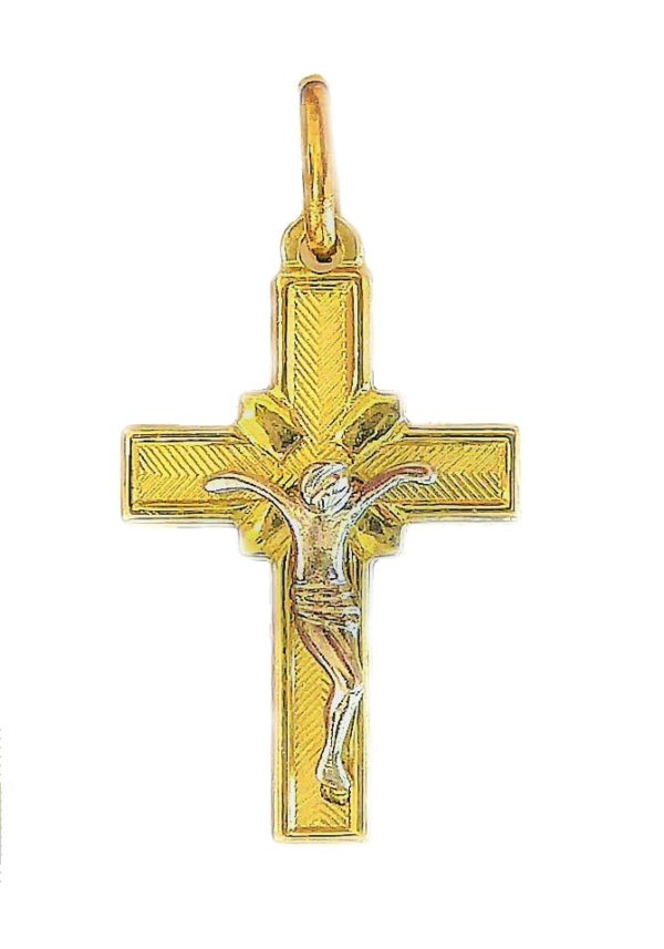 Cross Crucifix Lorraine Catholic Pendant A217b Atlantis Gold
