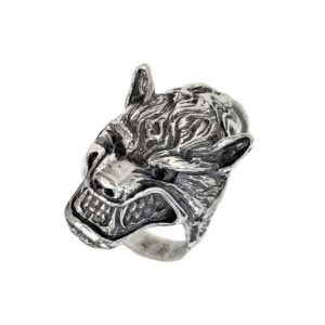 Ring men Wolf head