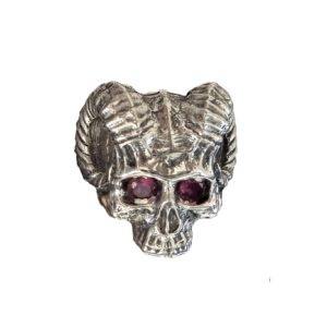 Ring men skull devil Red eyes 1564